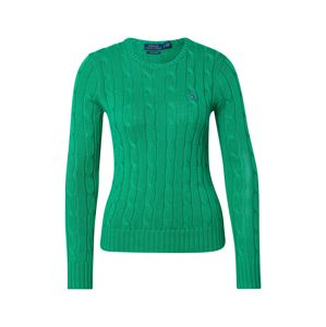 POLO RALPH LAUREN Sveter 'JULIANNA-CLASSIC-LONG SLEEVE-SWEATER'  zelená