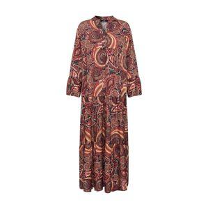 Zwillingsherz Košeľové šaty 'Carla'  oranžová