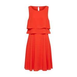 COMMA Letné šaty  oranžovo červená
