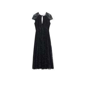 MANGO Kokteilové šaty 'Bimat'  čierna