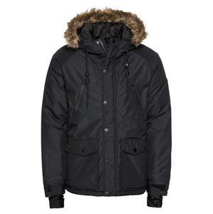 Pier One Zimná bunda 'Skiing Jacket Rip Stop'  čierna