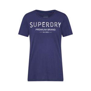 Superdry Tričko 'PREMIUM SEQUIN ENTRY TEE'  námornícka modrá