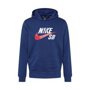 Nike SB Mikina  námornícka modrá / biela / červená