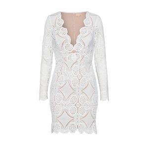 Love Triangle Kokteilové šaty 'ATOMIC'  biela
