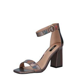 ONLY Remienkové sandále  striebornosivá