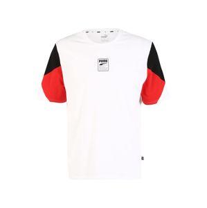 PUMA Funkčné tričko 'Rebel Advanced'  biela / červená / čierna