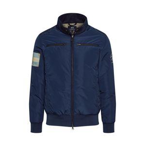 La Martina Prechodná bunda 'Quarantotto'  námornícka modrá / oranžová