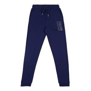 Calvin Klein Jeans Nohavice  modrá / sivá