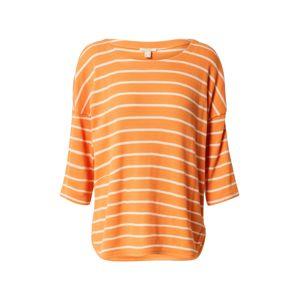 ESPRIT Tričko  oranžová / biela