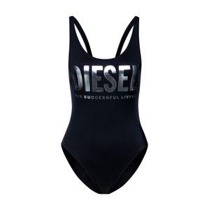 DIESEL Jednodielne plavky 'BFSW-LIA SWIMSUIT'  strieborná / čierna