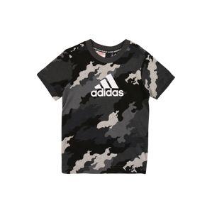 ADIDAS PERFORMANCE Funkčné tričko  čierna / biela / svetlosivá / tmavosivá / sivá melírovaná