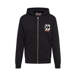 DIESEL Sweatjacke 'BMOWT-BRANDON-Z SWEAT-SHIRT'  čierna