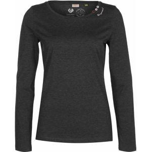 Ragwear Tričko  čierna melírovaná
