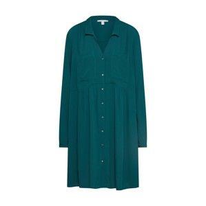ESPRIT Košeľové šaty  tmavozelená