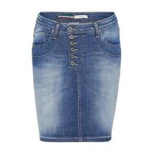 PLEASE Sukňa 'skirt'  modrá denim
