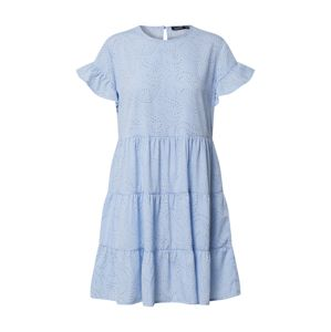 Boohoo Damen - Kleider 'Tiered Smock Mini Dress'  svetlomodrá