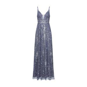 LUXUAR Večerné šaty  modré / sivá