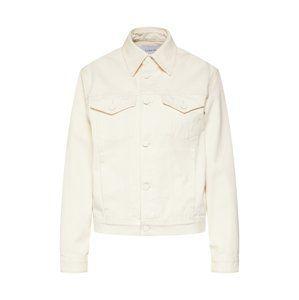 Calvin Klein Prechodná bunda 'CLASSIC TRUCKER'  krémová