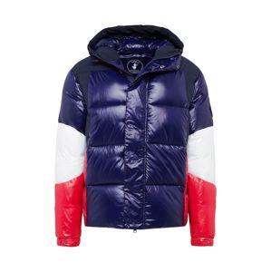 SAVE THE DUCK Zimná bunda 'GIUBBOTTO CAPPUCCIO'  tmavomodrá / červené / biela