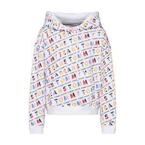Tommy Jeans Mikina 'AOP Hoodie'  zmiešané farby / biela