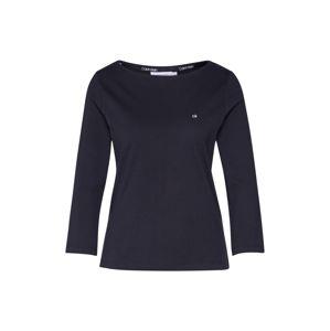 Calvin Klein Tričko 'BOAT NECK 3./4 SLV'  čierna