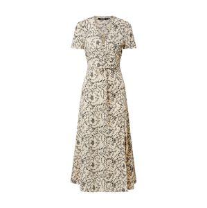 Missguided Letné šaty 'Tea'  krémová / čierna