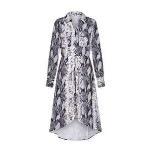 NA-KD Košeľové šaty  sivá