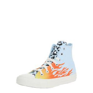 CONVERSE Sneaker 'CHUCK TAYLOR ALL STAR - HI'  oranžovo červená / žlté / svetlomodrá