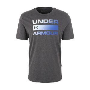 UNDER ARMOUR Funkčné tričko 'TEAM ISSUE'  modré / tmavosivá
