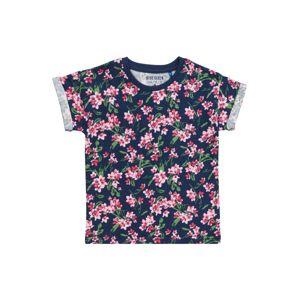 BLUE SEVEN Tričko  ružová / námornícka modrá