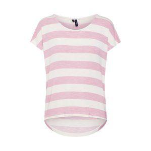 VERO MODA Tričko  ružová / biela