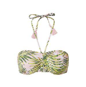 PIECES Bikinitop  ružová / zelená