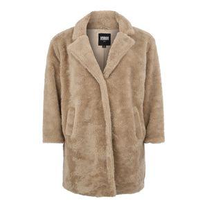 Urban Classics Curvy Prechodný kabát 'Sherpa Coat'  pieskový
