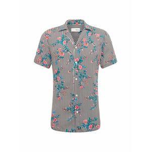 !Solid Košeľa 'Shirt - Brando Tropic SS'  červené / čierna