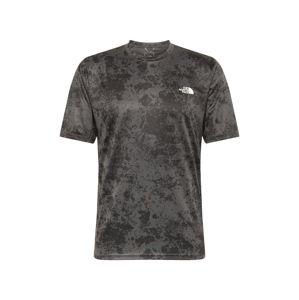 THE NORTH FACE Funkčné tričko  čierna / tmavosivá