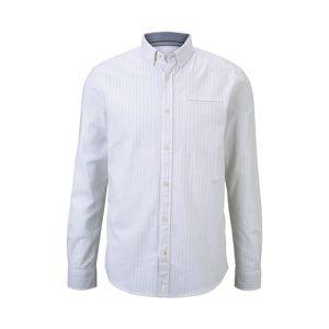 TOM TAILOR Košeľa  svetlohnedá / biela