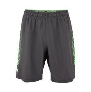 UNDER ARMOUR Športové nohavice 'Woven Graphic'  zelená / tmavosivá