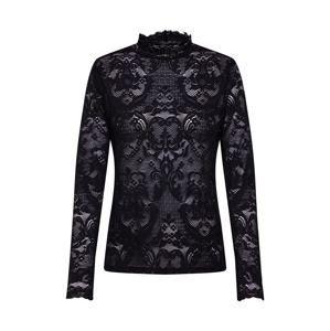 SET Tričko 'Spitzenshirt'  čierna