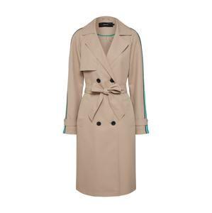 VERO MODA Prechodný kabát 'SPICE'  pieskový / nefritová