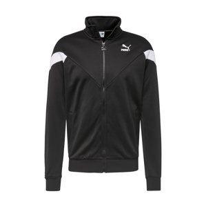 PUMA Športová bunda 'Iconic MCS'  biela / čierna