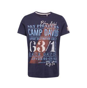 CAMP DAVID Tričko  tmavomodrá / zmiešané farby