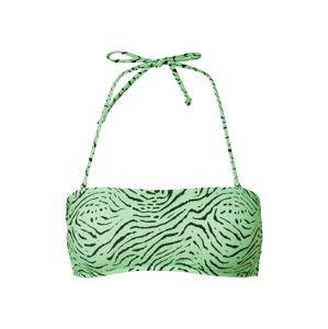 EDITED Bikinový top 'Mailin'  zelená ako tráva