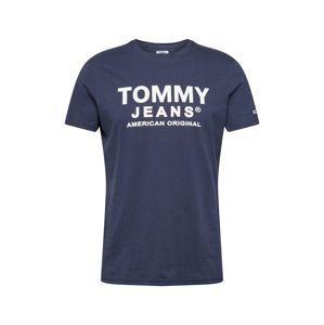 Tommy Jeans Tričko 'ESSENTIAL'  biela / námornícka modrá