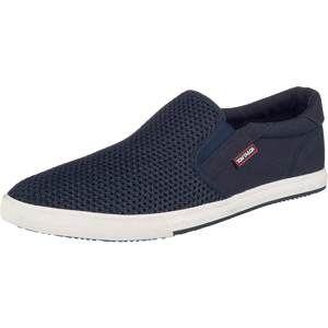 TOM TAILOR Slip-on obuv  námornícka modrá / biela