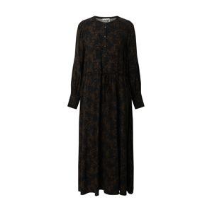 JUST FEMALE Šaty 'Hattie'  čierna / hnedá