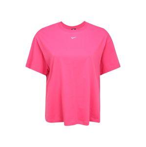 Nike Sportswear Tričko 'W NSW ESSNTL TOP SS BF PLUS'  ružová