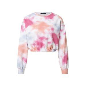 Trendyol Mikina  biela / ružová / fialová