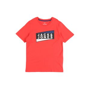 Jack & Jones Junior Tričko 'JCOSHAUN TEE SS CREW NECK JR'  červené