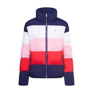 Tommy Jeans Prechodná bunda 'COLORBLOCK PUFFA'  námornícka modrá / zmiešané farby / červené