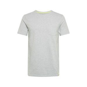TOM TAILOR DENIM Tričko 'structured T-shirt'  sivá